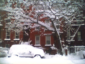 Brooklyn Blizzard Photos: South 5th street facing north between Rodney and Keap Street.