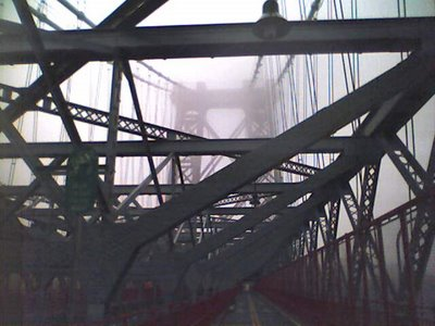 The Williamsburg Bridge in the Fog