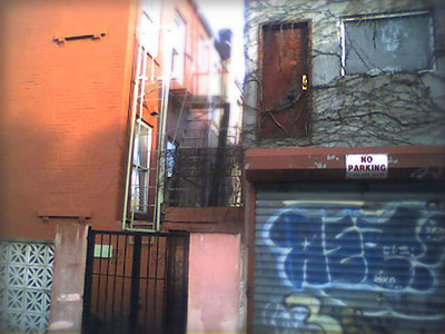 Door to Nowhere: Spotted on Keap by South 5th, Williamsburg Brooklyn