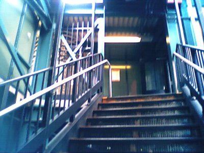 Photo of a stairway to the J line, taken on June 19, 2005