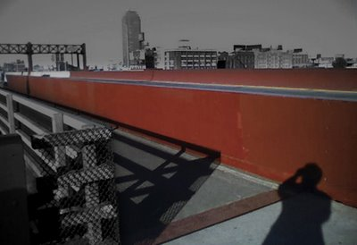Portrait of My Shadow Crossing the Pulaski Bridge