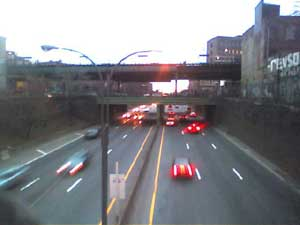 View of the BQE from Broadway near Marcy