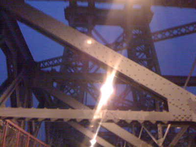 The Williamsburg Bridge at Dawn - photographed on April 27th, 2008 by Michael Pinto