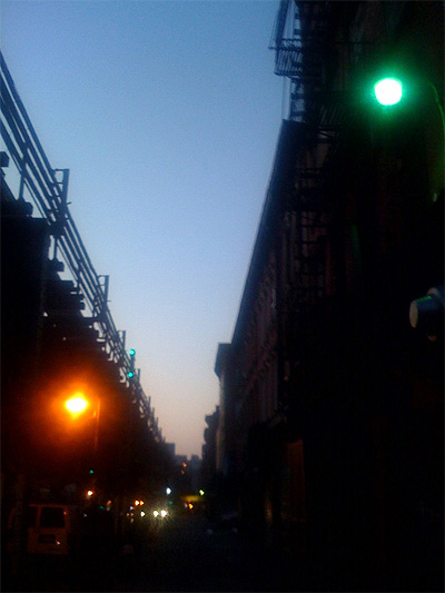 Dawn on Broadway in Williamsburg Brooklyn 11211