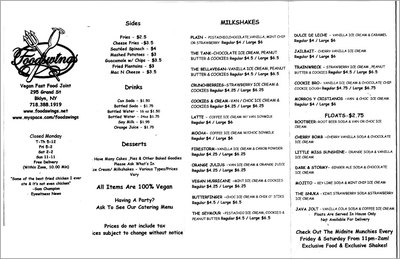 foodswings menu williamsburg brooklyn 11211