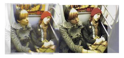 Sleepy L Train Hipsters Montage, Williamsburg Brooklyn 11211