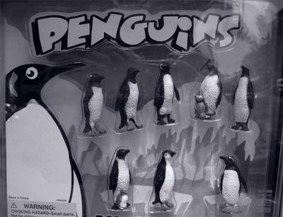 Crazy Lights and Penguins: A vending machine in front of a bodega on Keap Street in Williamsburg, Brooklyn. Photographed by Michael Pinto on May 20th, 2007.