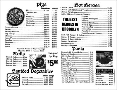 San Marco Pizzeria - the menu - 577 Lorimer Street, Brooklyn, NY 11211 - (718) 387-4861