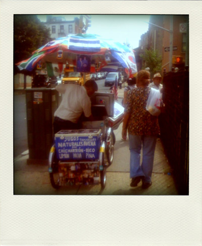 Summer Ices on Keap Street - as shown via a faux polaroid shot