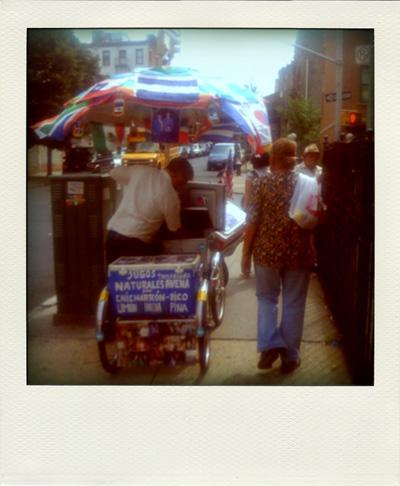 Summer Ices on Keap Street - as shown via a faux polaroid shot