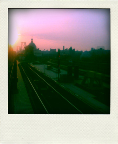 Sunset on Marcy - what it would look like with a Polaroid camera
