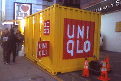 Uniqlo Store in a Box NYC